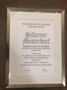 Silberner Meisterbrief Jubiläum